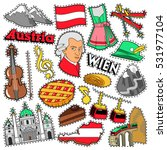 austria travel scrapbook... | Shutterstock .eps vector #531977104