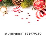 christmas bow and decoration on ... | Shutterstock . vector #531979150