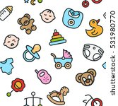 baby child kid seamless vector...   Shutterstock .eps vector #531980770