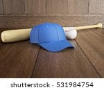 baseball equipment  empty cap ... | Shutterstock . vector #531984754