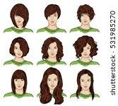 vector set of color sketch... | Shutterstock .eps vector #531985270