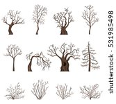 Vector Set Of Brown Cartoon...