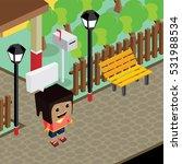 cartoon character life in front ... | Shutterstock . vector #531988534