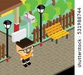 cartoon character life in front ... | Shutterstock . vector #531988744