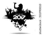 new year 2017. clouds from the... | Shutterstock .eps vector #531990010