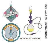 set logo in line art style for... | Shutterstock .eps vector #531994420