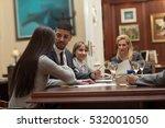 team meeting planning analysing ...   Shutterstock . vector #532001050