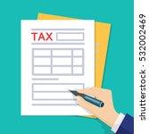 man hands filling tax form. tax ... | Shutterstock .eps vector #532002469