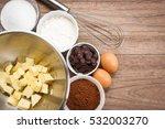 variety ingredient of brownie....   Shutterstock . vector #532003270