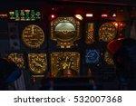 airplane instrument panel | Shutterstock . vector #532007368