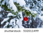 decorated christmas tree with a ... | Shutterstock . vector #532011499