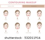 type of faces. contouring... | Shutterstock .eps vector #532011916
