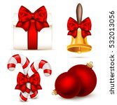 set of realistic christmas... | Shutterstock .eps vector #532013056