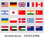 collection of flags of the... | Shutterstock .eps vector #532013986