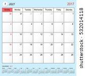 2017 calendar planner design ... | Shutterstock .eps vector #532014118