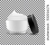 Open Cream Container Isolated....