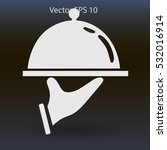 flat dish icon. vector.
