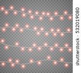 christmas red garlands... | Shutterstock .eps vector #532019080