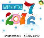 happy new year  funny 2017 ... | Shutterstock .eps vector #532021840