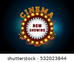 theater sign circle.brightly... | Shutterstock .eps vector #532023844