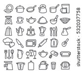 set of modern thin line icons... | Shutterstock . vector #532037758