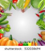 vegetable background. | Shutterstock . vector #532038694