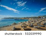 red sea egypt beach sunshade... | Shutterstock . vector #532039990