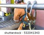 working at height equipment.... | Shutterstock . vector #532041343