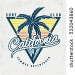 california surf typography for... | Shutterstock .eps vector #532043860