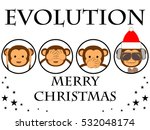 christmas card. merry christmas.... | Shutterstock .eps vector #532048174
