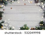 christmas background on the... | Shutterstock . vector #532049998