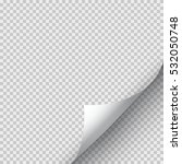 page curl with transparent ...   Shutterstock .eps vector #532050748