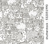 good night seamless pattern for ... | Shutterstock .eps vector #532051990