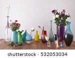 decorative vases and flowers... | Shutterstock . vector #532053034