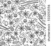 vector seamless pattern with... | Shutterstock .eps vector #532053556