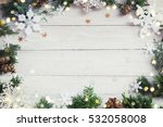 christmas background on the...   Shutterstock . vector #532058008