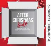 after christmas or boxing day... | Shutterstock .eps vector #532058740