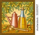 Retro Olive Oil Still Life....