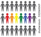 lgbt people vector icon on...   Shutterstock .eps vector #532060069
