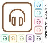 headset simple icons in color... | Shutterstock .eps vector #532060414