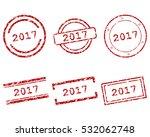 2017 stamps | Shutterstock .eps vector #532062748