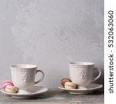 closeup of cup of tea on... | Shutterstock . vector #532063060