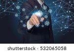 businessman touching human... | Shutterstock . vector #532065058