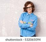 cool hipster student woman... | Shutterstock . vector #532065094