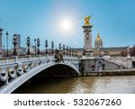 alexandre iii bridge  paris... | Shutterstock . vector #532067260