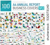mega collection of 100 business ... | Shutterstock . vector #532073140