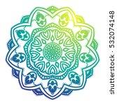 vector beautiful mandala.... | Shutterstock .eps vector #532074148