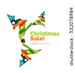 christmas and new year sale... | Shutterstock . vector #532078984