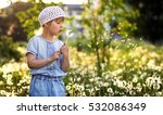 portrait of a little girl in... | Shutterstock . vector #532086349