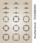 vintage decor elements and... | Shutterstock .eps vector #532088383
